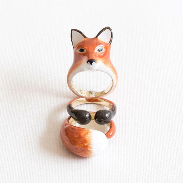Azooshop – Fox Triple Ring Set