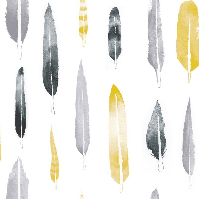 Mini Moderns – Feathers Wallpaper