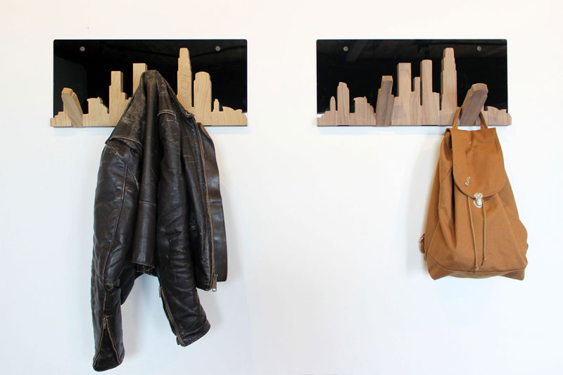 Treeline Woodworks – Skyline Coat Hanger – Los Angeles Edition