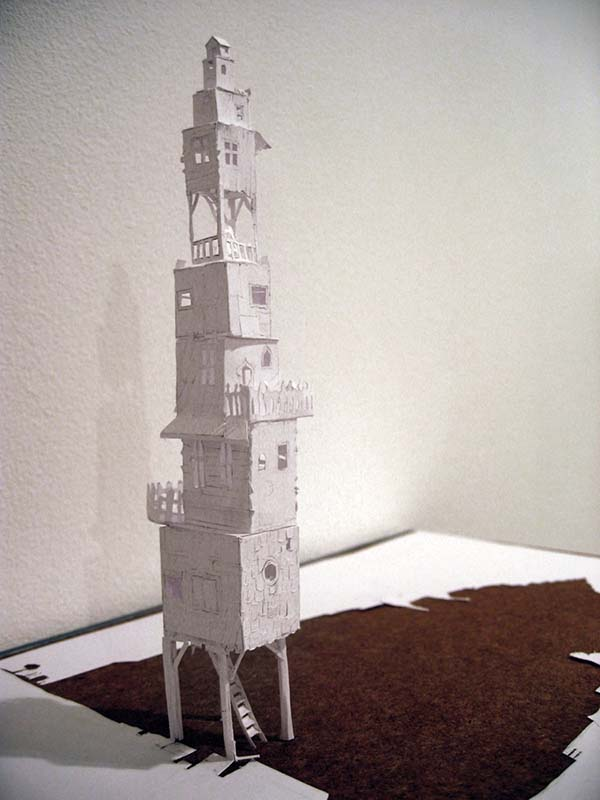 how to make mobile tower with paper