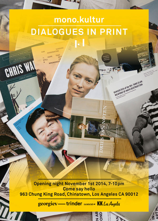 mono.kultur: Dialogues in Print