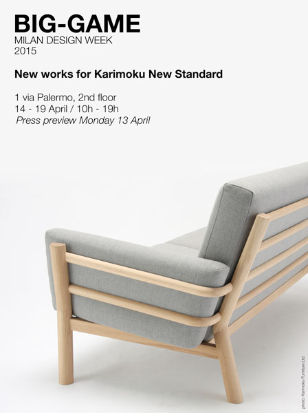 "BIG-GAME presents new works for ""Karimoku New Standard"" – Milan, Italy"
