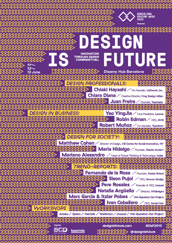 Design is Future @ Barcelona Design Week 2015 – Barcelona, Spain