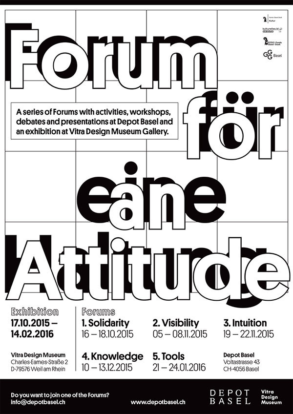 Forum for an Attitude – Exhibibition and Forums – Basel, Switzerland