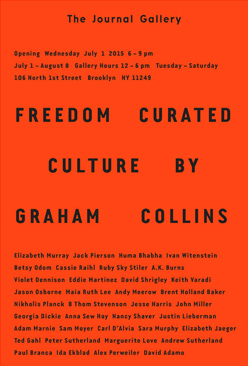 """The Journal Gallery presents """"Freedom Culture"""", a group exhibition curated by Graham Collins – 紐約 布魯克林"""