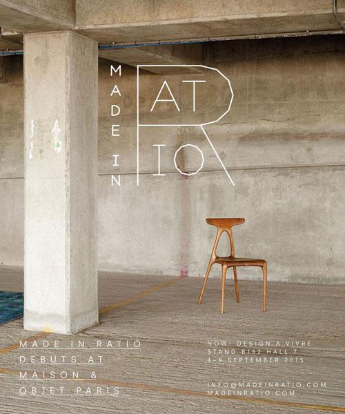 Made in Ratio debuts at Maison & Objet Paris 2015 – Paris, France