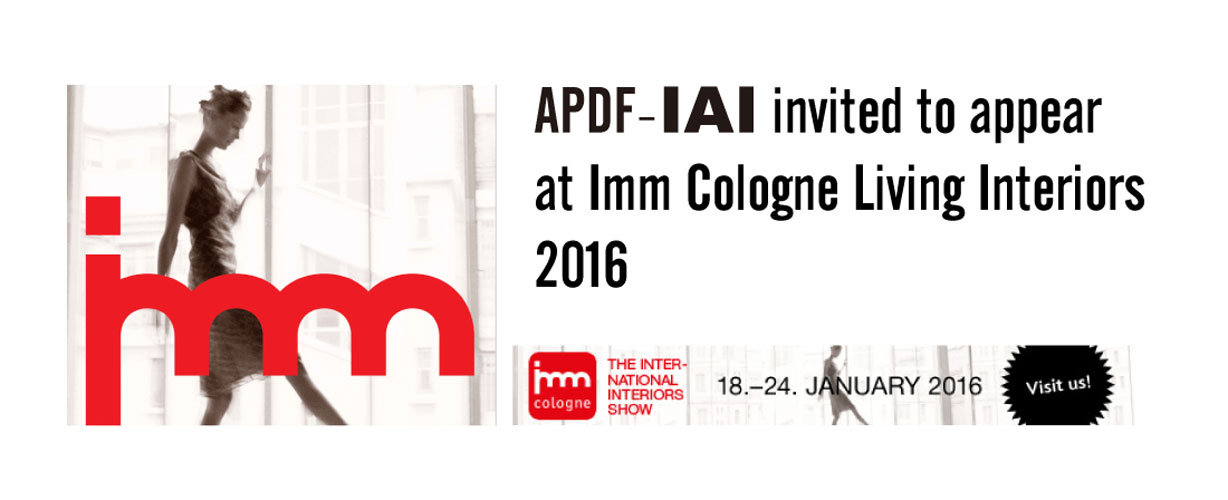 APDF exhibits at Imm Cologne Living Interiors 2016 – Köln, Germany