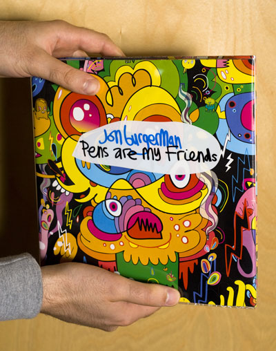 Jon Burgerman: Pens are my Friends – Enter the world of Jon Burgerman's art, where nothing is safe from his meandering lines!