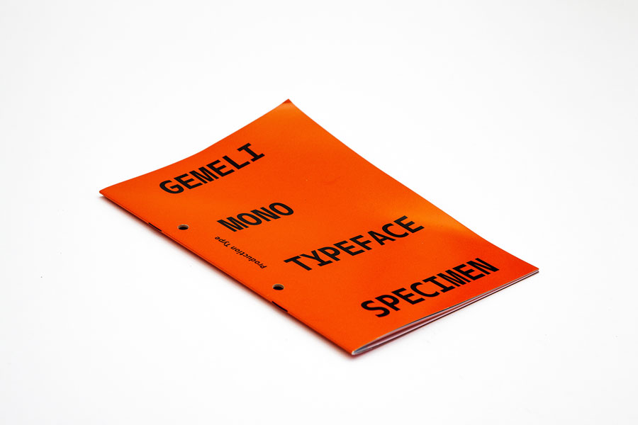Production Type: Gemeli Mono Type Specimen – Paris, France