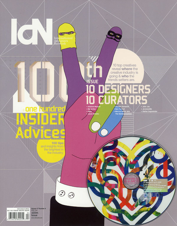 IdN v17n4: 100th Issue — 10 DESIGNERS / 10 CURATORS