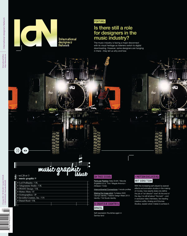 IdN v20n3: Music Graphic Issue – Is there still a role for designers in the music world?