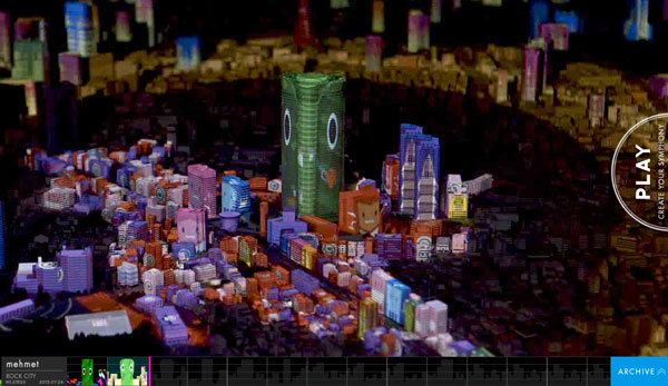 Tokyo City Symphony : 3D projection mapping art