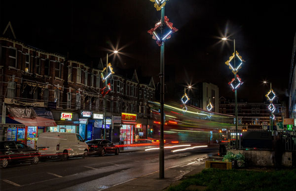 Haberdashery lights up Cricklewood for Christmas