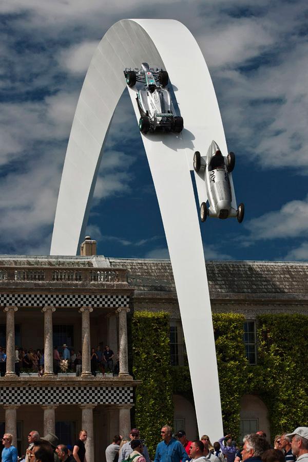 Mercedes-Benz Sculpture at Goodwood Festival of Speed 2014