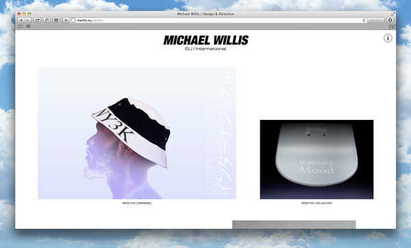 Art Director Michael Willis revamps website