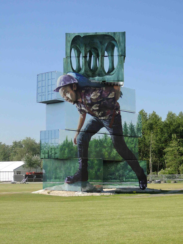 """Moving the Pointless Monument"" by Fintan Magee – Werchter, Belgium"