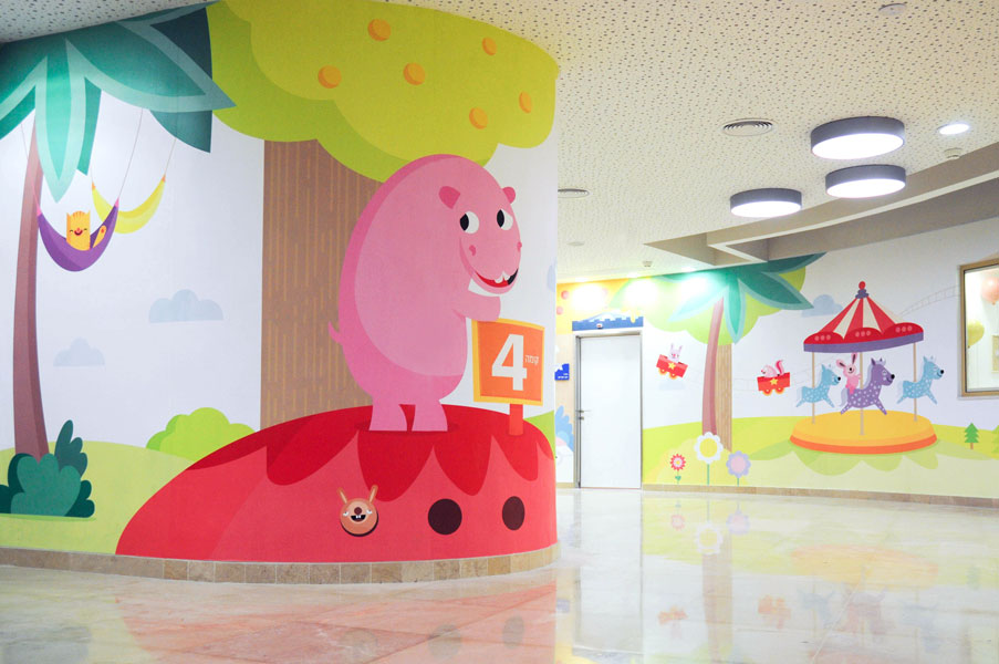 Hospital's Paediatrics Department Wall Murals by Michal Or-Ad, Baram and Miki Mottes – Ramat Gan, Israel