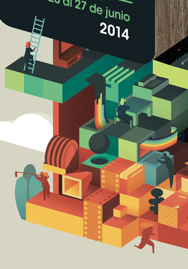 Illustration for 29th Cinema Jove Festival by Casmic Lab