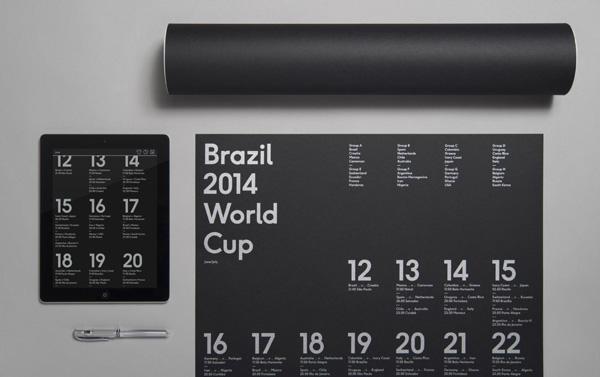 Brazil 2014 World Cup Wallchart by Karoshi