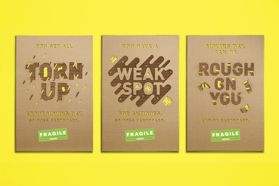 RETHINK — Fragile Posters for FrogBox – Vancouver, Toronto, Montreal