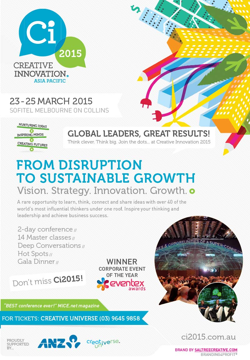 Creative Innovation 2015 Asia Pacific: Register now for Earlybird Ticket!