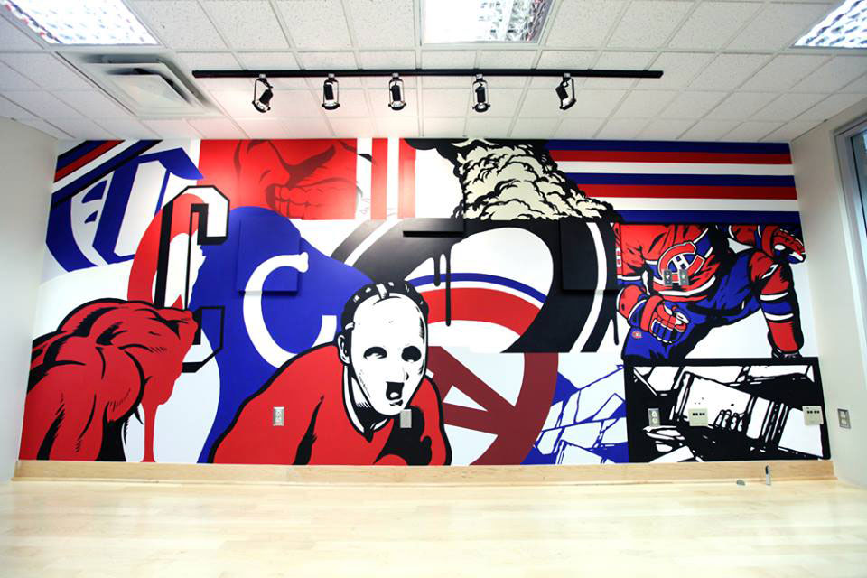 LNDMRK presents mural by Eric Clement at Canadiens de Montréal