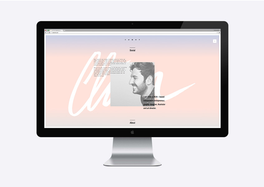 I Am Clim — Brand New Website – Barcelona, Spain