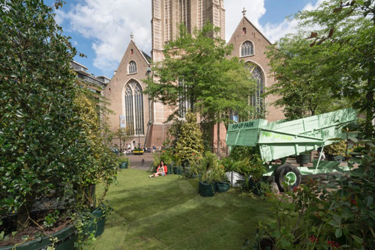 1:1 Pop Up Park at the Grotekerkplein – Rotterdam, The Netherlands