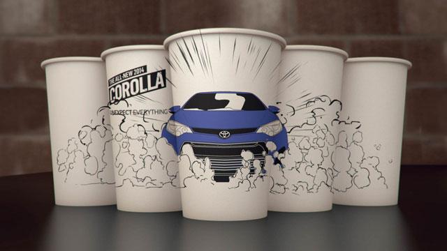 Handel Eugene – Toyota Corolla Illustrated Cups (0:25)