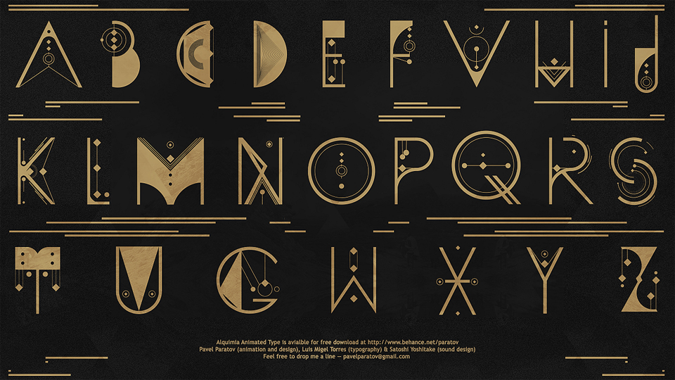 Pavel Paratov – ALQUIMIA Animated Type (1:05)